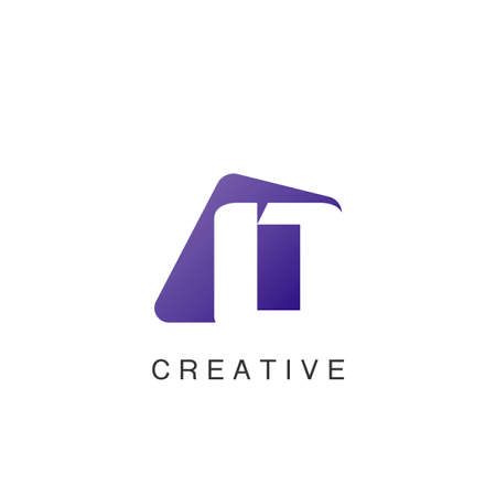Abstract Techno Negative Space Initial Letter O Logo icon vector design. 矢量图像