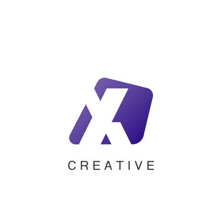Abstract Techno Negative Space Initial Letter X Logo icon vector design. 矢量图像