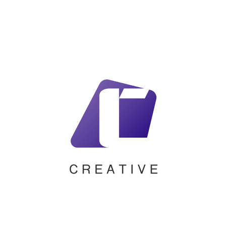 Abstract Techno Negative Space Initial Letter C Logo icon vector design. 矢量图像