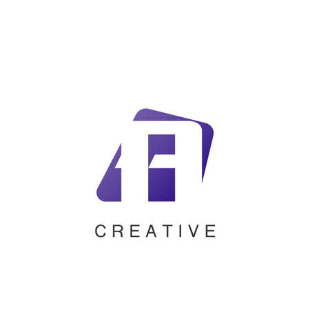 Abstract Techno Negative Space Initial Letter A Logo icon vector design.