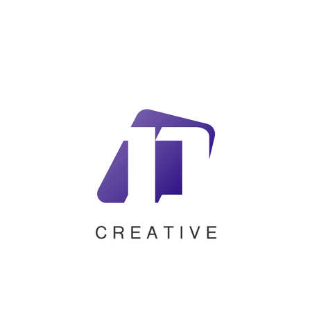 Abstract Techno Negative Space Initial Letter D Logo icon vector design. 矢量图像