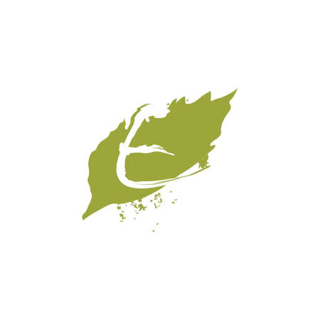 Green Nature Leaf Splash Letter E logo icon vector design concept.