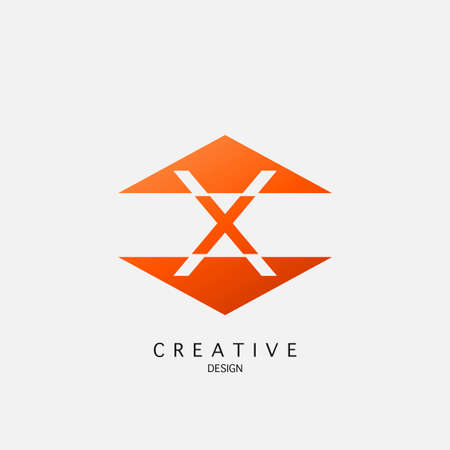 X letter techno triangle geometrical, design concept triangle geometric shape with letter X icon for technology, business, finance, initials and more brand identity.