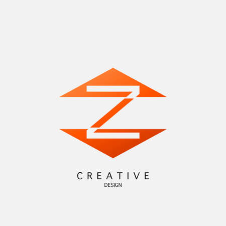 Z letter techno triangle geometrical, design concept triangle geometric shape with letter Y icon for technology, business, finance, initials and more brand identity.