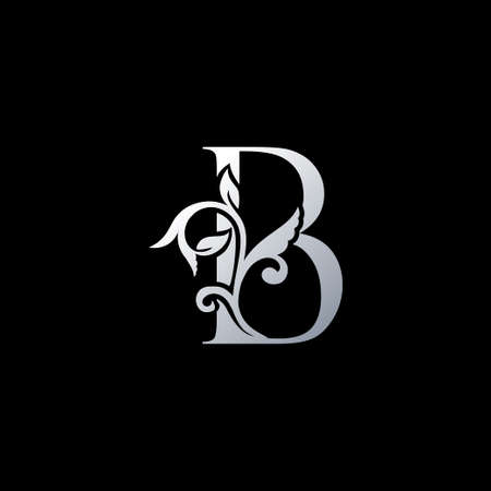 Monogram Initial Letter B Luxury Icon, Vintage B Letter Design Template for identity