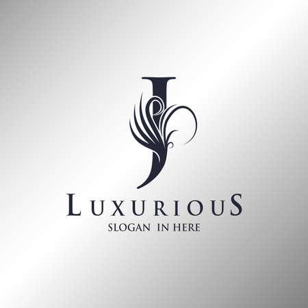 Letter J Monogram Luxury Ornate Decorative Elegance Logo Template Design. Logo