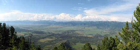 altai: Panorama Uimon Valley  Altai Mountains