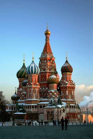 St  Basil s Cathedral on Red Square  Moscow Stock Photo