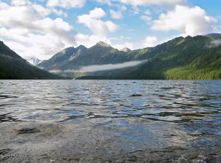 View of the Lower Lake Multinsky  Gorny Altai