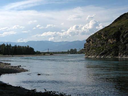 Mountain river Katun Stock Photo - 13805811