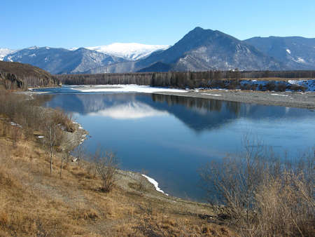 Katun River in the valley Uimon  Gorny Altai photo