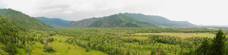 Panorama of a mountain valley  Gorny Altai