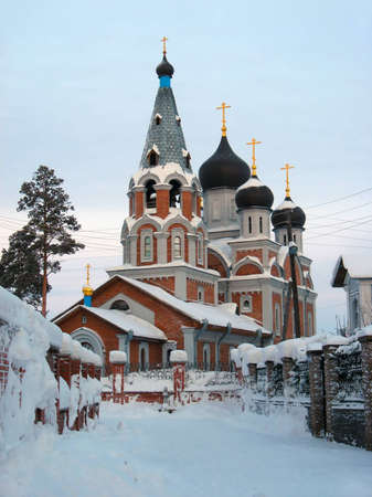 novosibirsk: Nativity of the Blessed Virgin Mary in the winter  Novosibirsk