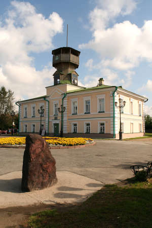 Museum of Tomsk s History and stone base in place