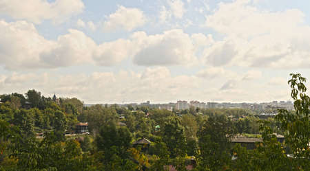 Panorama of the city of Tomsk  View from Mount Resurrection