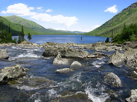 Gorny Altai  Mountain River Noises and Lower Multinsky Lake