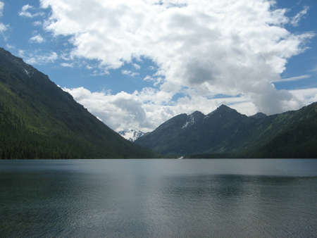 View on the Bottom Multinsky lake  Altai Mountains