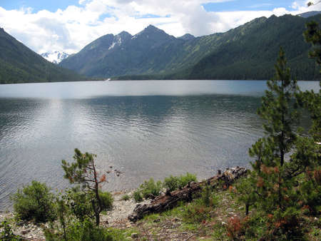 View on the Bottom Multinsky lake in the Altai Mountains