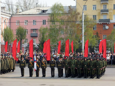 Victory Day parade  Soldiers of the tankers in service