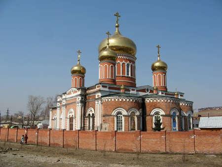 Znamensky Convent, Barnaul Stock Photo