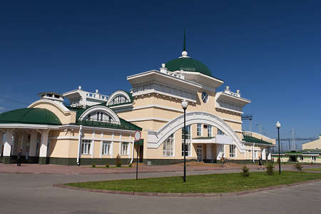 Railway station Altai in Novoaltaisk Editorial