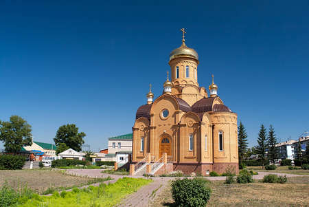 The Church of St  Michael Archangel in the town Novoaltaysk