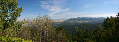 View of the foothills of the Altai mountains