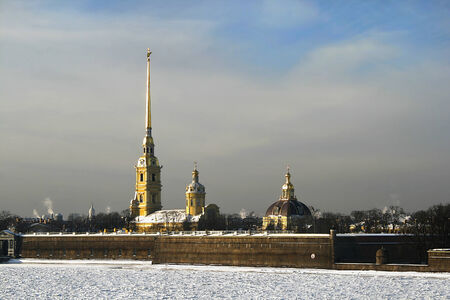 View on the Peter and Paul Fortress and the Cathedral in Saint Petersburg