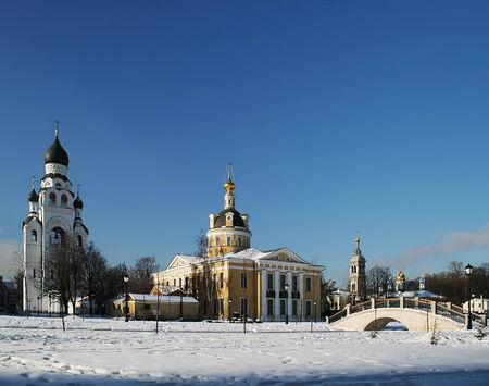 Rogozhskoe village churches in Moscow Stock Photo