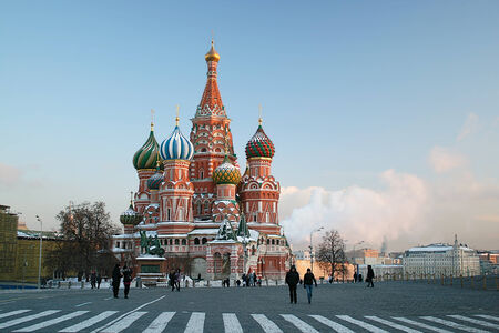 Basil s Cathedral on Red Square in Moscow Stock Photo