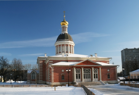 Christmas Church in Rogozhsky village in Moscow
