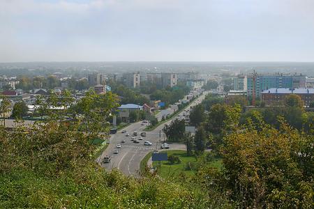 View of Biysk panorama