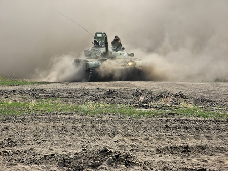 Tank in a combat situation