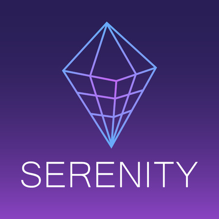 Serenity vector outline icon.Ethereum 2.0 Cryptocurrency, payment, crypto currency, blockchain button. flat adaptation design for web site, mobile app