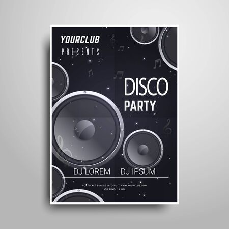 Party poster template.Night party vertical flyer sample
