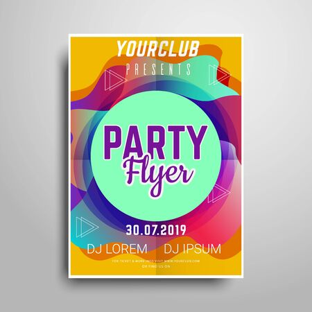 Party flyer.Abstract vertical flyer template Standard-Bild - 131226911