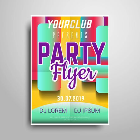 Party flyer.Abstract vertical flyer template