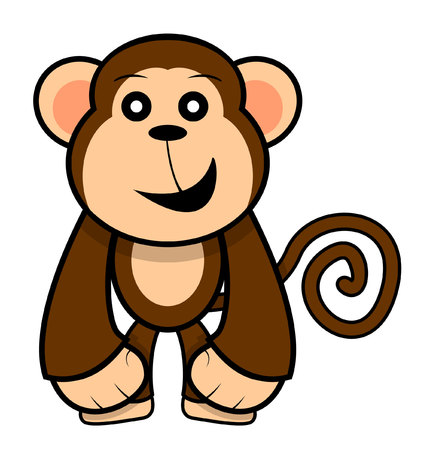mono caricatura: mono