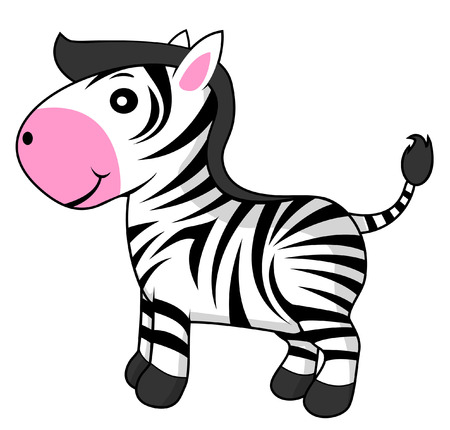 objects with clipping paths: zebra