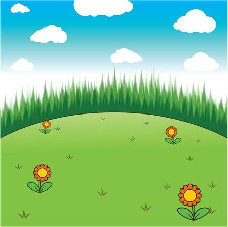 rolling landscape: hill Illustration