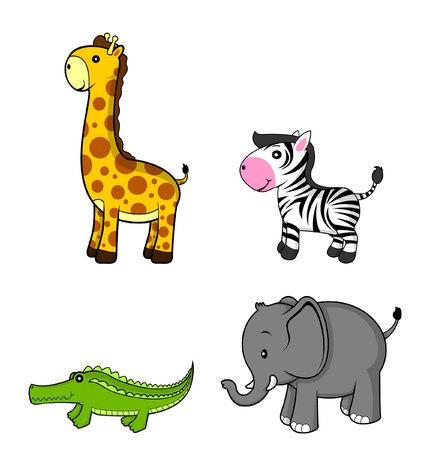 girafe: wild animal.giraffe.zebra.elephant.crocodile