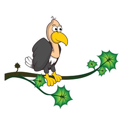vulture: vulture tree Illustration