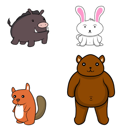 road rage: forest animal.wild boar.rabbit.beaver.forest bear