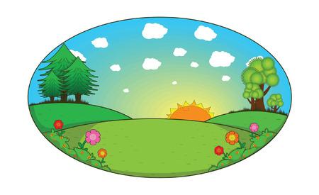sun flowers: scenery hill