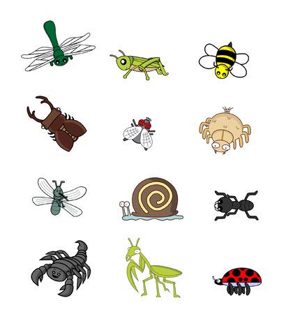 anthill: insect animal set Illustration