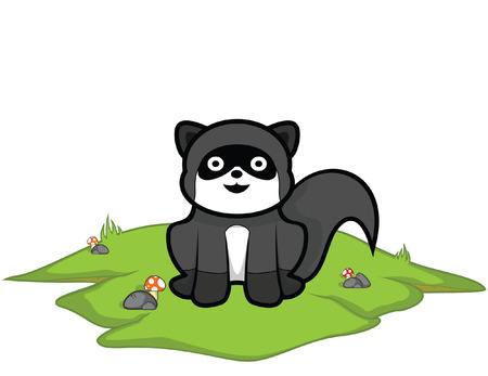 mink: weasel grass land