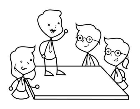 üzlet: business meeting