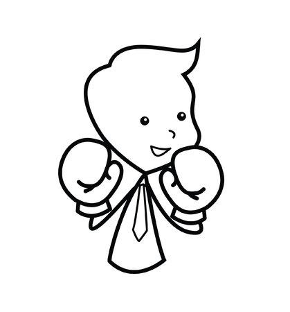 pugilism: Businessman Competition boxer