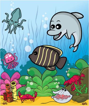 fish cute collect Illustration
