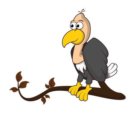 buzzard: vulture tree Illustration